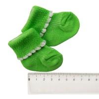 Носочки для недоношенных деток салатовые (3-4 см)