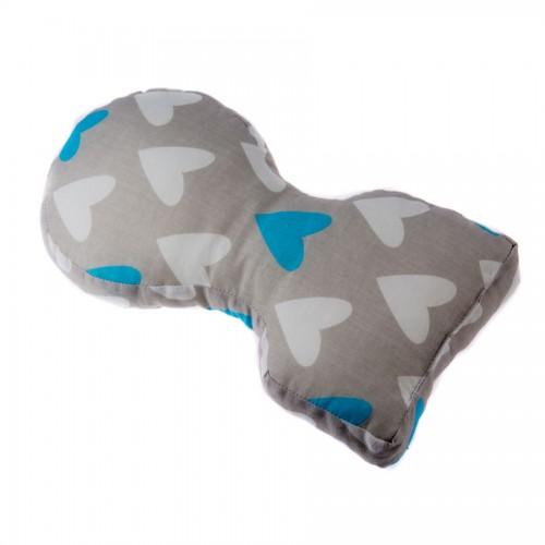 Укладка в положении на животе Голубые сердечки (до 3 кг)