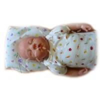 Ортопедическая подушка для недоношенных детей Горошки на розовом (более 2000 г)